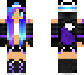 My Galaxy Wolf Girl Skin Minecraft Skin