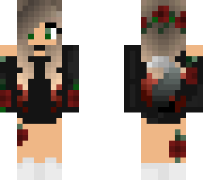 Rose Wolf Girl Minecraft Skin