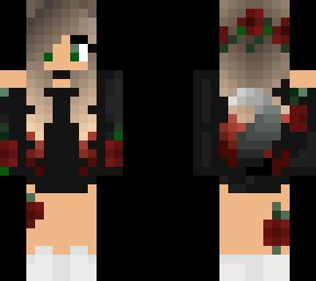 Rose Wolf Girl Minecraft Skin