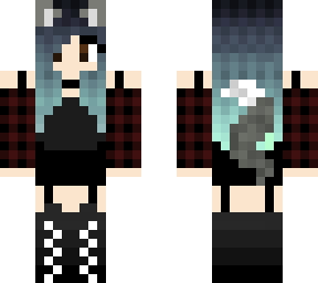 Cute Grey Wolf Girl Minecraft Skins