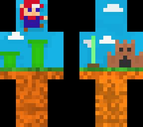Mario Pixel Art Minecraft Skin
