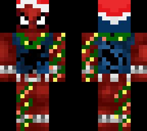 Spiderman Christmas.Spiderman Christmas Minecraft Skins