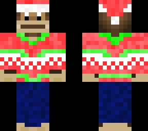 Minecraft Christmas Skins.Christmas Monkey Minecraft Skins