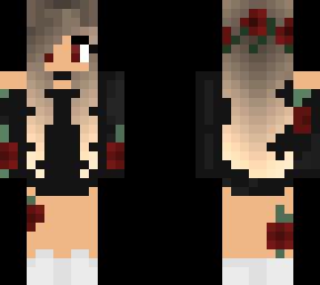 rose flower crown minecraft skins
