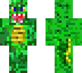 it's a crocodile! this is my very first skin on skindex! i hope you like it!