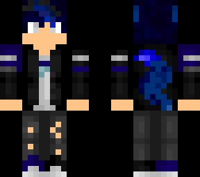 Blue Wolf Boy Minecraft Skins