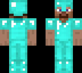 Diamond Armor Steve Minecraft Skins