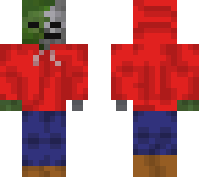 hooded zombie skeleton