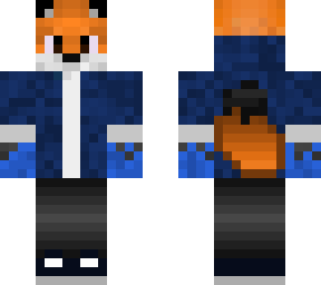 fox skin with hoodie plus shoes