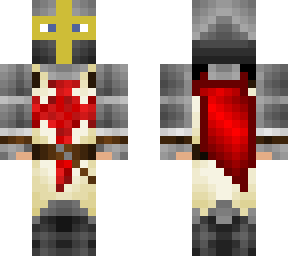 templar knight, layered with undergarments