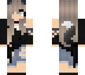 Edit Of Cute Wolf Girl 3 Minecraft Skin