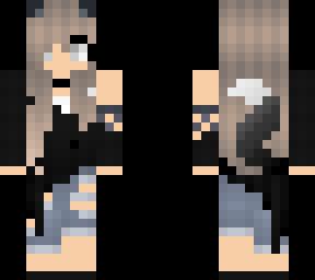 Edit Of Cute Wolf Girl 3 Minecraft Skin