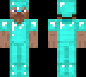 Diamond Armour Steve Minecraft Skins