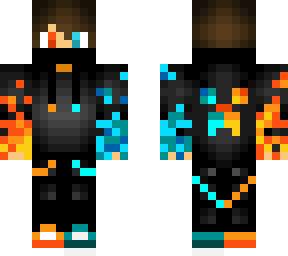 Fire And Water Skin Costimization For Java Minecraft Skin