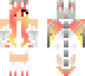 nether fire dragon girl