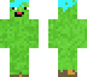 a creeper...with... blue hair???!