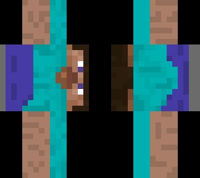 Steve Turned 90 Degrees Minecraft Skin