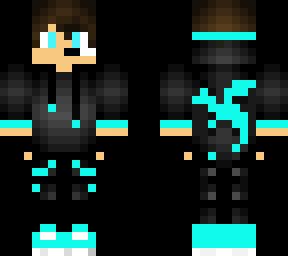 Blue Dragon Boy Minecraft Skin