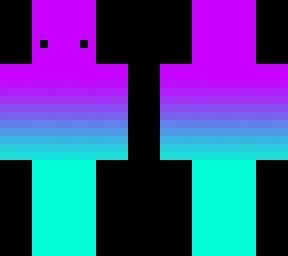 Vaporwave Gradient Minecraft Skin