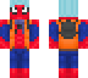spider-man in winter clothes