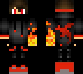 Fire Boy Skin Minecraft Skin