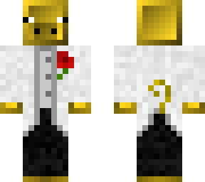 golden pig white tux