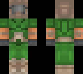 Doomguy Classic Minecraft Skin
