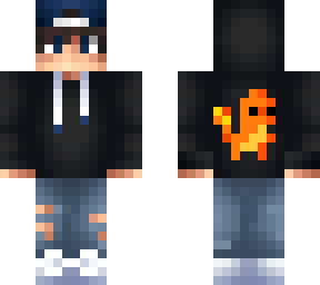 Boy Blue Hoodie And Cute Minecraft Skins