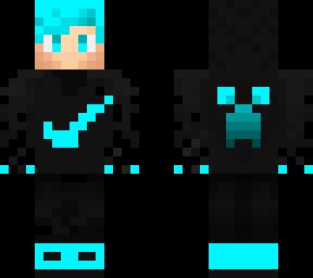 blue Ender pearl gamer | Minecraft Skin