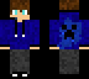 Blue Boy Hoodie Minecraft Skins