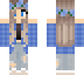 blue plaid girl