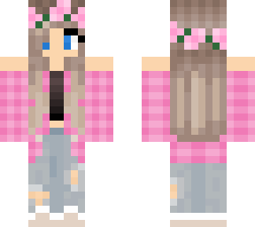 pink plaid girl