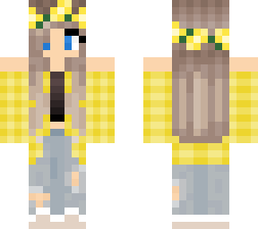 yellow plaid girl